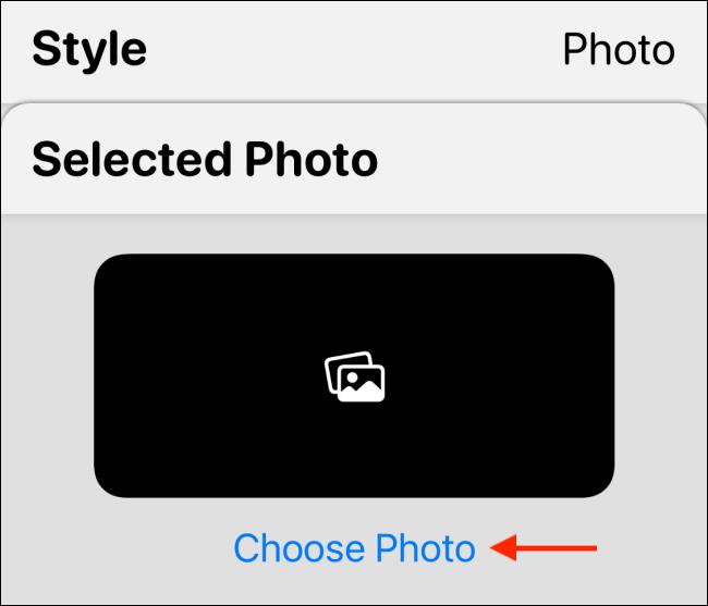 Appuyez sur Choisir une photo