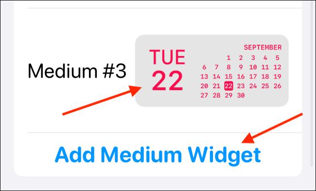 Appuyez sur Ajouter un nouveau widget ou sélectionnez un widget