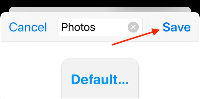 Donnez un nom au widget et choisissez le bouton Enregistrer
