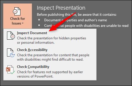 Inspecter le document