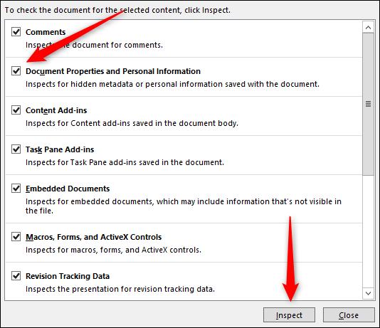 Inspectez le document