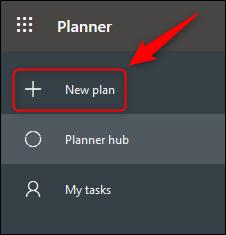 """Le menu Planner avec le """"Nouveau plan"""" option mise en évidence."""