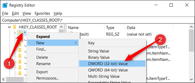 Cliquez avec le bouton droit sur la clé et choisissez Nouveau> Valeur DWORD (32 bits).  Nommez le DWORD DefaultDropBehavior.» width=»650″ height=»278″ onload=»pagespeed.lazyLoadImages.loadIfVisibleAndMaybeBeacon(this);» onerror=»this.onerror=null;pagespeed.lazyLoadImages.loadIfVisibleAndMaybeBeacon(this);»/></p> <p>Vous allez maintenant modifier cette valeur pour toujours copier ou toujours déplacer les fichiers et dossiers comme comportement de dépôt par défaut.  Vous pouvez utiliser quatre valeurs qui ont des effets différents.  Bien que nous ne soyons intéressés que par deux des actions, elles sont les suivantes:</p> <ul> <li><strong>Action par défaut (0):</strong> Laissez Windows décider de copier ou de déplacer des fichiers et des dossiers lorsque vous les faites glisser et les déposez en place.</li> <li><strong>Copiez toujours (1):</strong> Une copie du fichier ou du dossier sera toujours placée dans la destination.</li> <li><strong>Bougez toujours (2):</strong> Le fichier ou le dossier sera déplacé vers la destination.</li> <li><strong>Créez toujours un raccourci (4):</strong> Un lien vers le fichier ou le dossier d'origine sera toujours placé dans la destination.</li> </ul> <p>Double-cliquez sur le nouveau <code>DefaultDropEffect</code> valeur pour ouvrir la fenêtre d'édition et entrez un «1» ou un «2», selon que vous souhaitez toujours copier ou déplacer des fichiers ou des dossiers.  Pour cet exemple, nous utiliserons «1» pour toujours copier des fichiers ou des dossiers.  Une fois terminé, cliquez sur «OK».</p> <p><img loading=