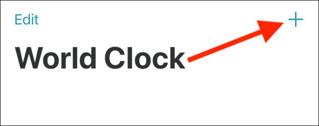 Appuyez sur le signe plus (+) dans le coin supérieur droit.