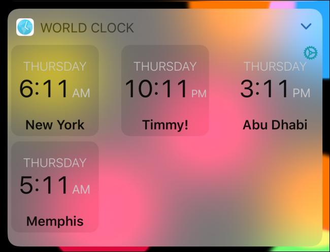 Horloge mondiale en mode numérique.