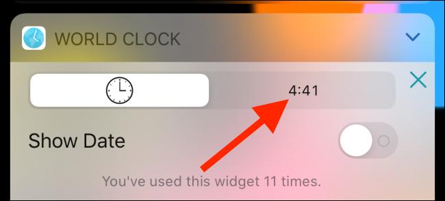 Passez à la vue numérique dans le widget Horloge mondiale.