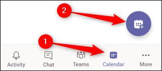 Réunion de planification mobile des équipes