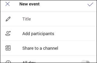 Nouveau formulaire de réunion Teams Mobile