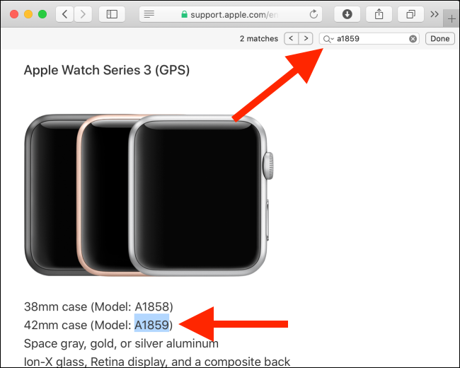 Page d'identification de l'Apple Watch