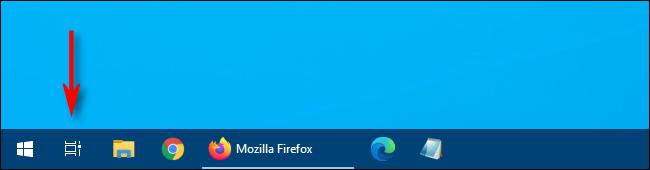 Cliquez sur le bouton Affichage des tâches sur Windows 10 pour basculer vers un autre bureau virtuel.