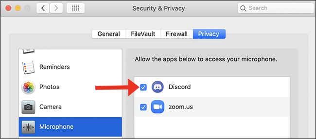 écran du micro accessibilité mac