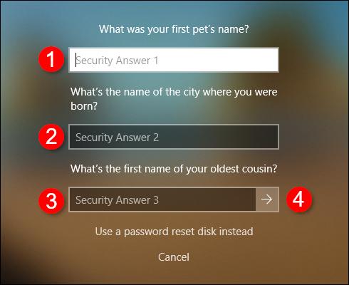 Questions sur la sécurité des comptes hors ligne