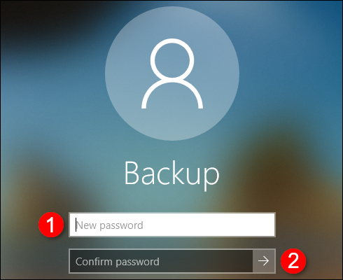 Créer un compte hors ligne Confirmer le mot de passe
