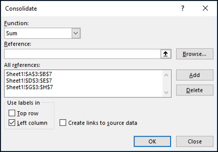 L'outil Consolider dans Excel
