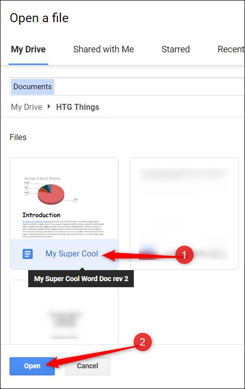"""Accédez au fichier, cliquez dessus, puis cliquez sur """"Ouvert"""" pour ouvrir le fichier."""