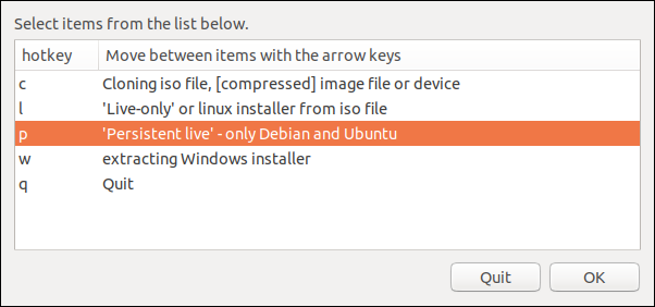 Option Ubuntu et Debian uniquement