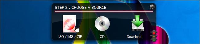Choix d'un fichier ISO dans Linux Live USB Creator
