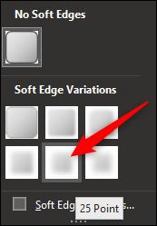 Cliquez sur la variante de bord doux qui convient le mieux à votre image.
