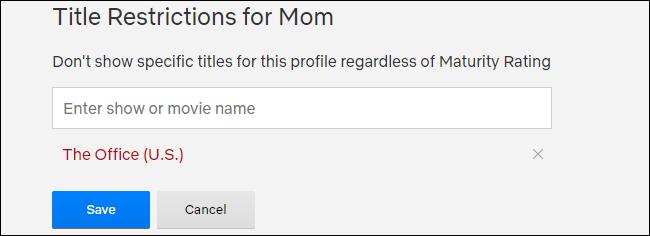 Restrictions de titre Netflix