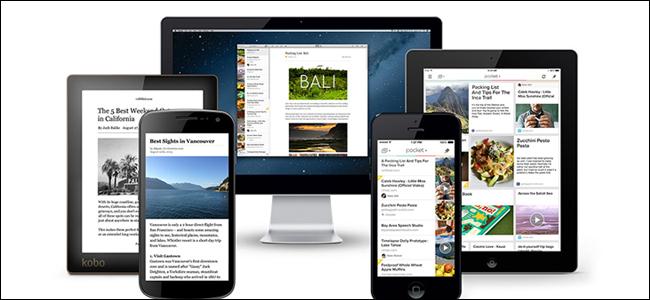 L'application Pocket sur cinq appareils différents.