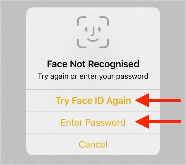 Essayez l'option de mot de passe dans l'application Notes