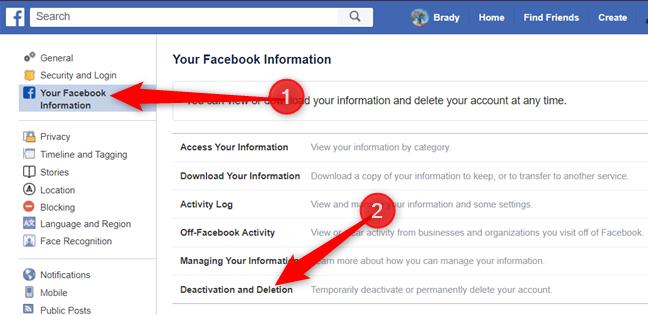 """Cliquer sur """"Désactivation et suppression"""" parmi les options ci-dessous."""
