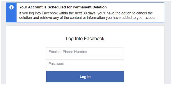 C'est ça.  Votre compte a maintenant été supprimé et vous êtes libre de Facebook (dans 30 jours).