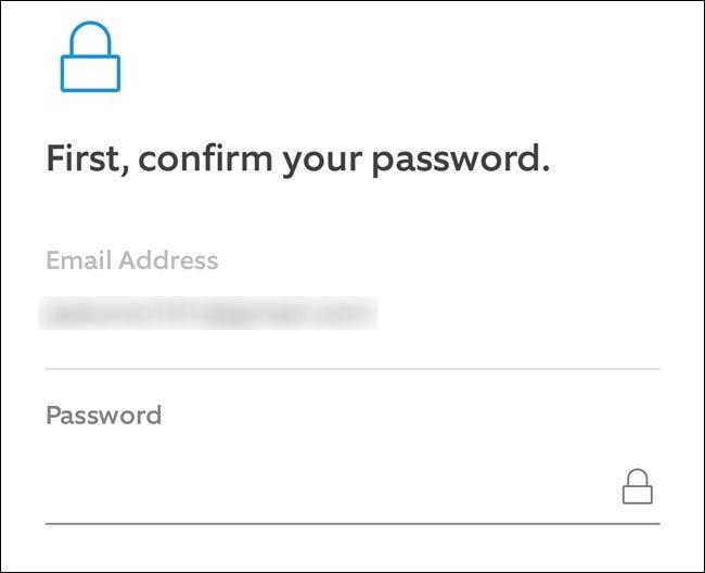 App Ring Entrez votre e-mail et votre mot de passe, puis cliquez sur le bouton Continuer