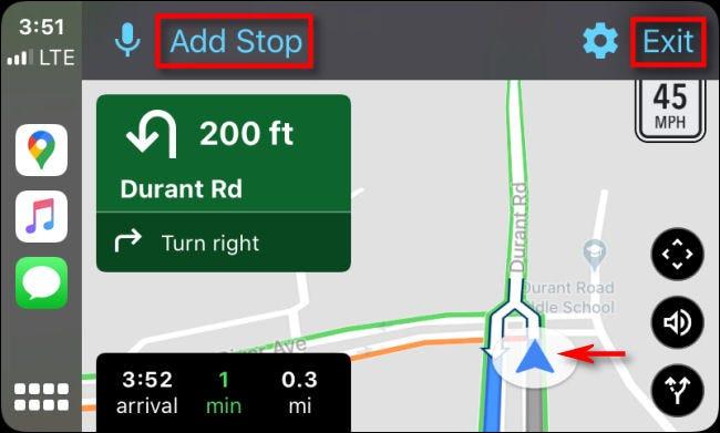Suivez les instructions détaillées dans Google Maps sur CarPlay via l'iPhone.
