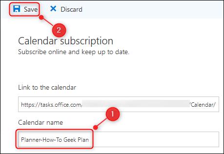 """Outlook """"Abonnement au calendrier"""" panneau."""