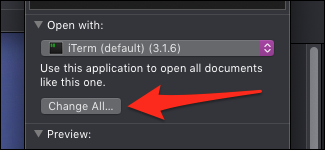 script ouvert macOS avec iTerm