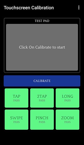 Ouvrez l'application d'étalonnage de l'écran tactile et appuyez sur Étalonner