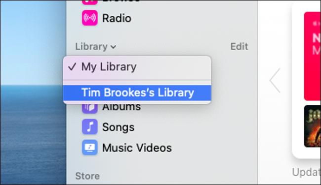 """Cliquez sur la flèche à côté de """"Bibliothèque"""" pour ouvrir le menu déroulant."""