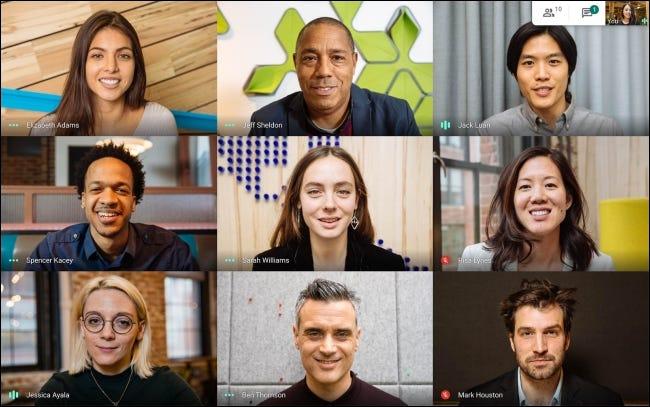 Conférence vidéo Google Meet à partir du site Web