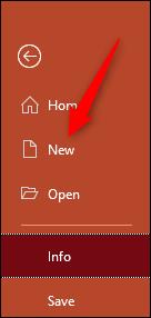Ouvrir une nouvelle présentation PowerPoint