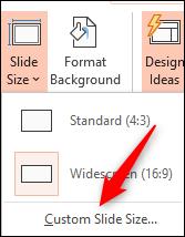 taille de diapositive personnalisée