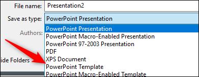 Enregistrer comme modèle PowerPoint