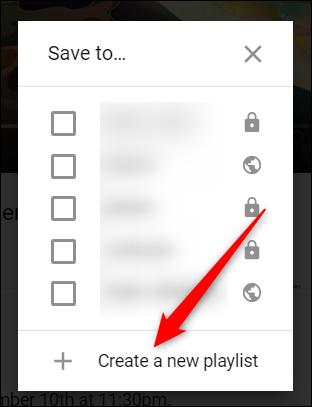 """Cliquez sur """"Créer une nouvelle liste de lecture"""" si vous n'en avez pas déjà fait."""