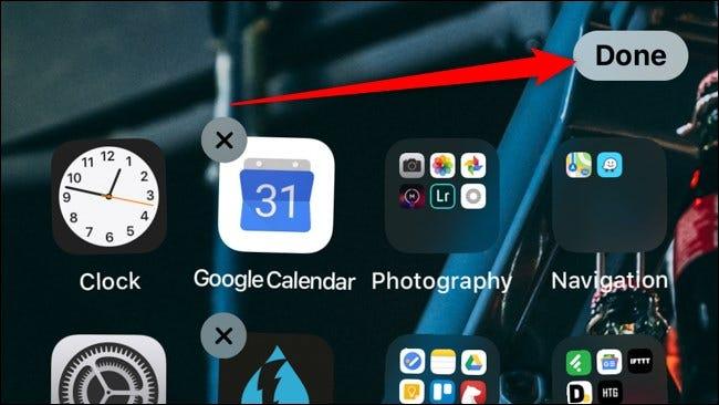 iOS iPadOS Appuyez sur Terminé pour enregistrer