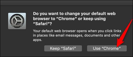 """Cliquez sur """"Utilisez Chrome."""""""
