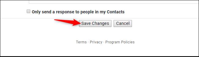 Bouton Enregistrer les modifications dans les paramètres Gmail sur le Web