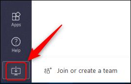 """le """"Téléchargement de l'application"""" bouton dans Teams en ligne."""