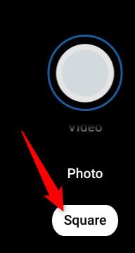 """Cliquer sur """"Carré"""" pour prendre une photo carrée à la place."""