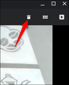 Pas satisfait de la vidéo?  Cliquez sur la poubelle pour la supprimer