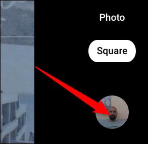 Cliquez sur la vignette de la photo la plus récente pour ouvrir l'application Galerie.