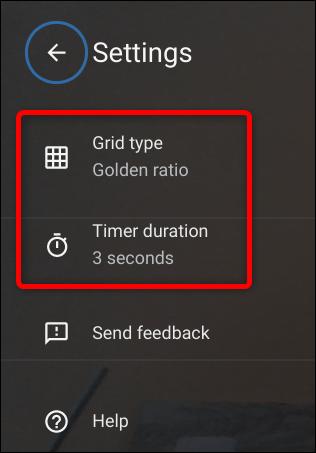 Modifiez le type de grille ou la durée du minuteur dans les paramètres.