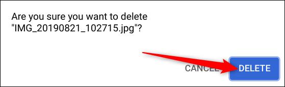 """Cliquez sur """"Effacer"""" pour se débarrasser de la photo."""