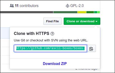 """le """"Cloner ou télécharger"""" bouton dans GitHub."""