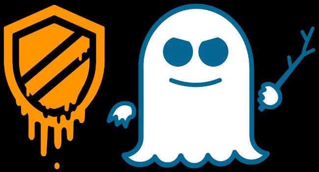 Les logos Meltdown et Spectre.