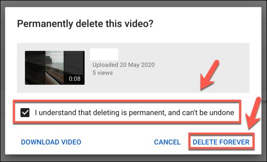 Supprimer définitivement une vidéo YouTube